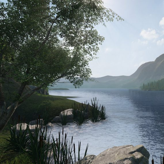"Impressions of the VR-application ""TheLake"""
